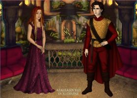 Laurelai and Victor in Lightwater Village by Tinalbion