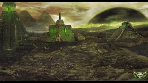 Matte Painting - Temple Inca by Zohko