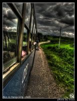 bus to Vangvieng in havy rain by iroza