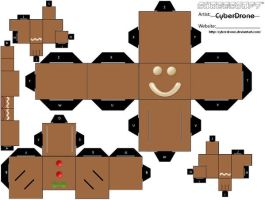 Cubee - Gingerbread Man 1 by CyberDrone