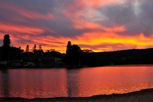 Lagoon sunset - Avoca 1 by wildplaces