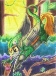 A Derpy Chameleon by Armorwing