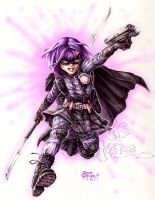 HIT GIRL ATTACK by PlanetDarkOne
