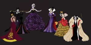 Disney Villain's Designer Collection by Katifisen