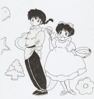 Ranma and akane by HeartlessHollow07