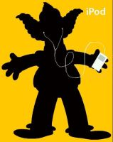 Simpsons iPod Krusty The Clown by nuthinbutnet2323