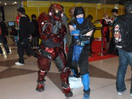 Halo Red Team Sarge and Sub Zero by nx20