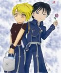 FMA - Chibi Roy and Riza by Kurama-chan