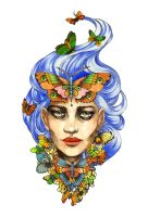 Butterfly Woman - Tattoo Design by Tegan-Ray