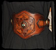 alcemist leather belt closeup by Lagueuse