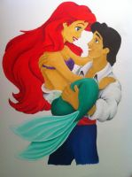Ariel and Eric. by ViridianDragon