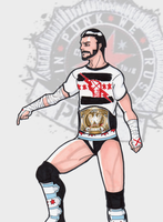 CM PUNK by theSN3S