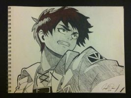 Eren Jaeger of Attack on Titan! by DraneAnimation1