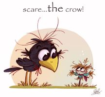 Scare...THE crow by princekido