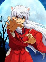 InuYasha the half-demon wallpaper by MoniViolet