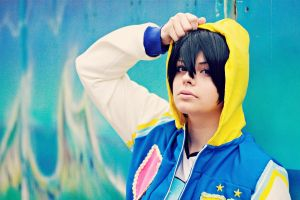 Haruka Nanase Cosplay: Honestly be myself by karinWaterproof