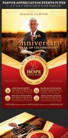 Pastor Anniversary Events Flyer Template by Godserv