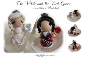 The White and the Red Queens by RedFenyx