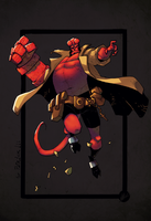 Sketch_Hellboy by drucpec