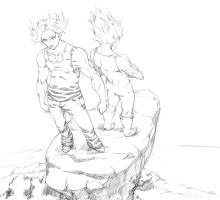 DBZ_SKETCH_FATHER_AND_SON by PotemkinBuster