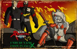 Anarchy puppiesVSUndead Nazis by TheBurningDonut