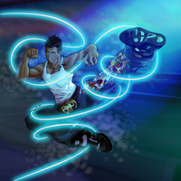 Dion Marquez VII - Flying Side Kick by WhiteStorm
