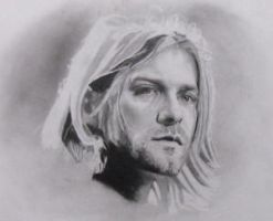 Kurt Cobain Portrait by LUCIFER-666-TSB