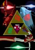 The evil Triforce by CookuBanana