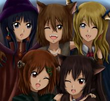 K-ON x Halloween by Athyra
