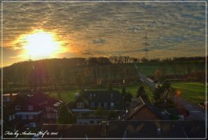 Sunset in Germany, taken in HDR by LordThetaSigma