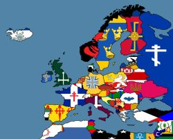 Alternate Flags of Europe by SteamPoweredWolf