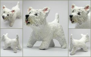 Westie Custom Pet Sculpture by LeiliaK
