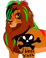 THE ONE AND ONLY HALF EMO_GOTH_PUNK_WHATEVER SIMBA by serra20