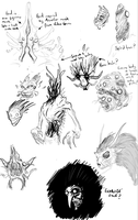 Early Idulnas concepts by T-RexJones