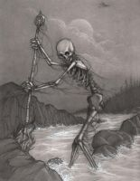 bones on the shore-pencil by CopperAge
