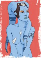 Hot and Tattooed [TWI'LEK] Pinup Saturday #15 by mad-smile