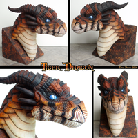 Tiger Dragon Bust by DragonosX