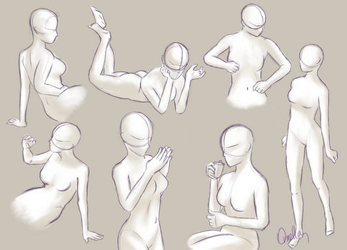 Female Body Study by OrnellaArts