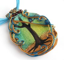 Twilight Forest Pendant no. 13 by sojourncuriosities