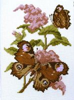 Cross-stitch embroidery Two beautiful butterflies by YANKA-arts-n-crafts