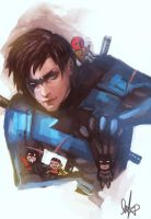 Dick Grayson with his toy by bliivet