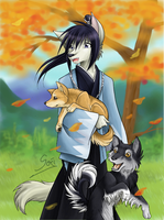 a happy autumn day by Samurai-Akita