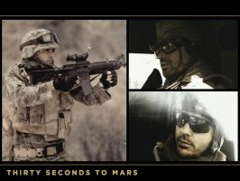 30 Seconds to Mars Wall 326 by martiansoldier