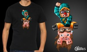 Chimneyswift11 Minecraft T-Shirt by FinsGraphics