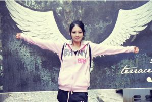 pink with wings by leehaneul