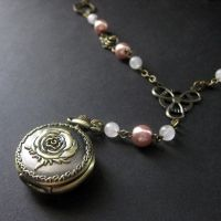 Romantic Roses Watch Necklace by Gilliauna