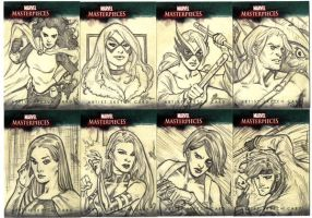 Marvel Sketch Cards Group 3 by artbytravis