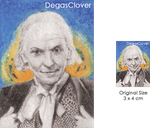 First Doctor - Pencil Mini portrait by DegasClover