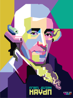Haydn Pop Art WPAP by ndop