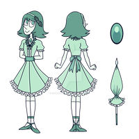 Watermint Pearl Ref (Oni Contest 1) by IcebergCabbage